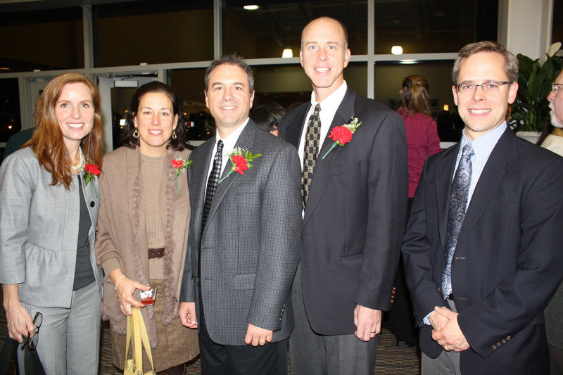 Portland School Board members Kate Snyder, chairperson; Marnie Morrione; Jaimey Caron and Ed Bryan; and former school board Chair Peter Eglinton.