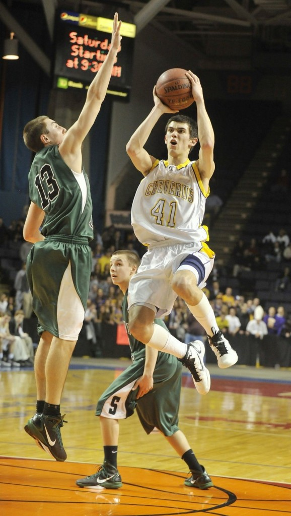 Louie DiStasio knows his way around the basket and is a big reason why Cheverus has a chance to add another Western Class A championship.