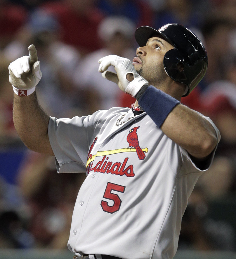 Albert Pujols spurned a 10-year contract offer from the St. Louis Cardinals to join the Los Angeles Angels, where he is expected to spend most of the rest of his career as a DH.
