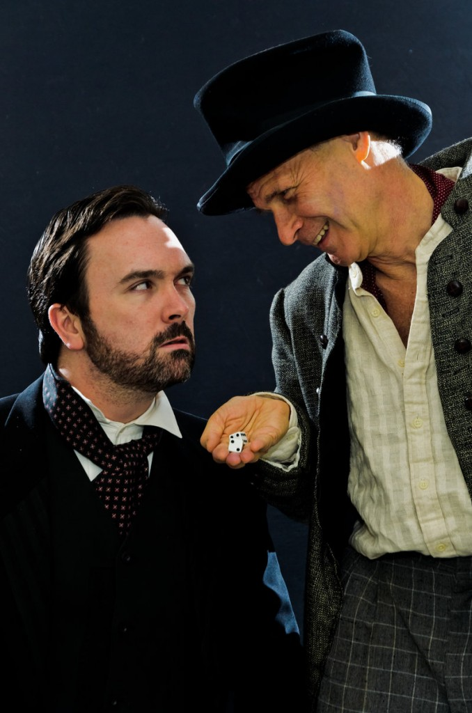 "Brian McAloon, left, and David Arthur Bachrach in ""The Christmas Bride."""
