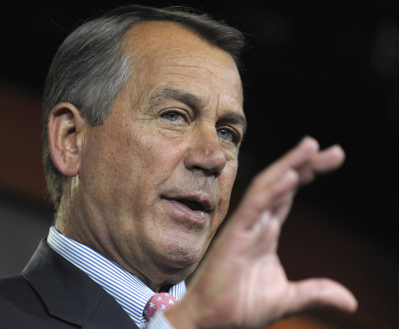 House Speaker John Boehner said the bill does not include everything either side wanted, but would be a win for the American people.