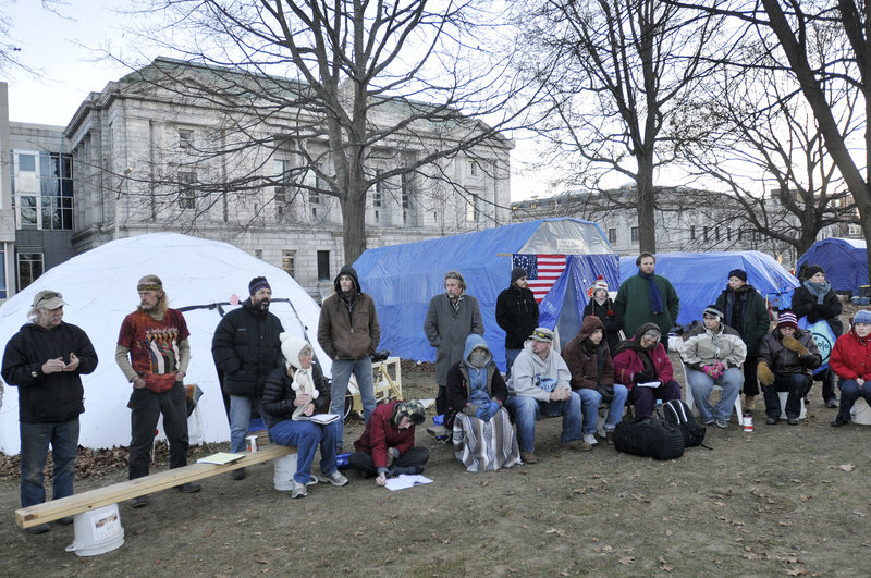 The Occupy Maine protesters gathered at Lincoln Park in Portland have an opportunity to show the movement is not just about camping.