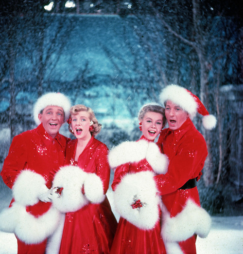 "From left, Bing Crosy, Rosemary Clooney, Vera-Ellen and Danny Kaye in the holiday classic ""White Christmas,"" which screens Saturday at Rockland's Strand Theatre."