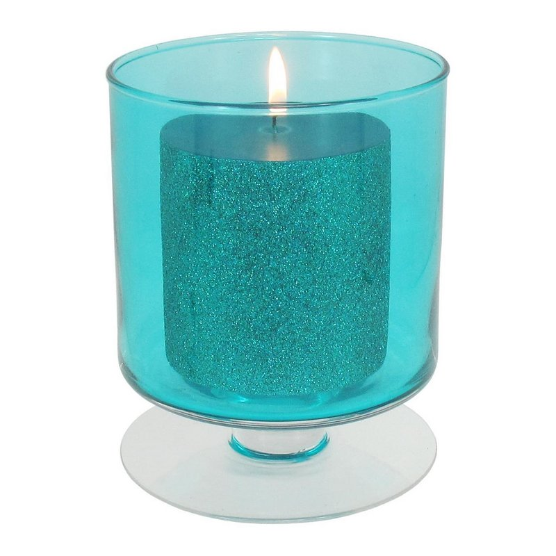 The Nicholas Square Snowflake hurricane pillar candleholder, available at Kohl's.