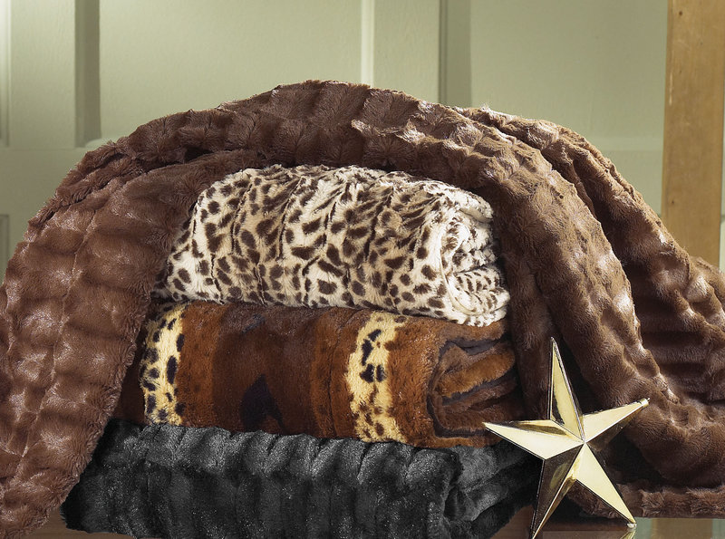 Faux-fur throws from Sears.