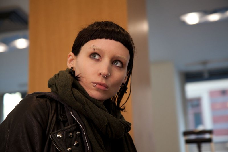 "Rooney Mara as the computer hacker Lisbeth Salander in ""The Girl with the Dragon Tattoo."""
