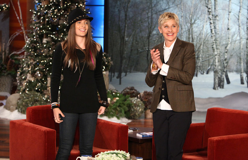 Paris Jackson and Ellen DeGeneres