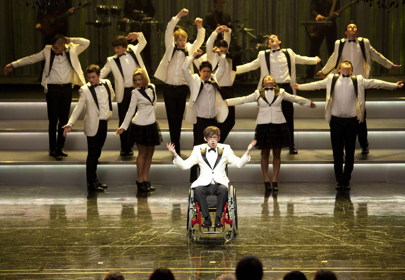 "The cast of ""Glee"" performs during Episode 8, ""Hold on to Sixteen."" A ratings juggernaut just last year, the Fox series has lost 23 percent of its audience this season."