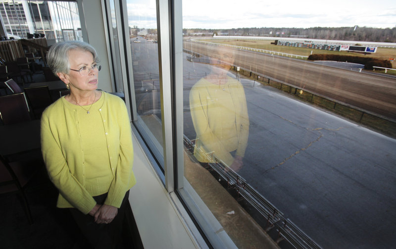 Sharon Terry, owner of Scarborough Downs, has cut staff and put most of the land around the track up for sale, though there were no takers for the land during the year it was on the market. But the track has run up an accumulated debt from operations of about $10 million, said Edward MacColl, the Downs' attorney.