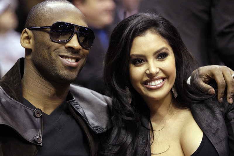 Kobe Bryant and his wife, Vanessa