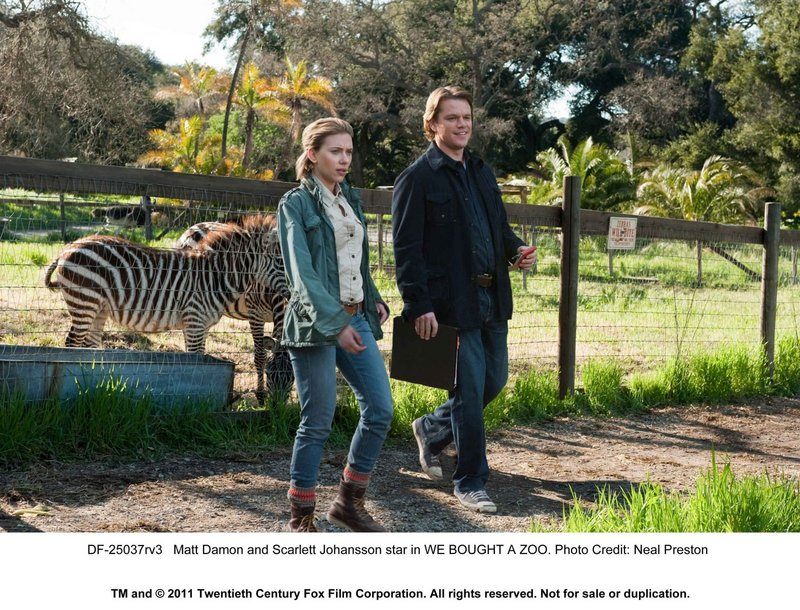 "Scarlett Johansson and Matt Damon in ""We Bought a Zoo."""