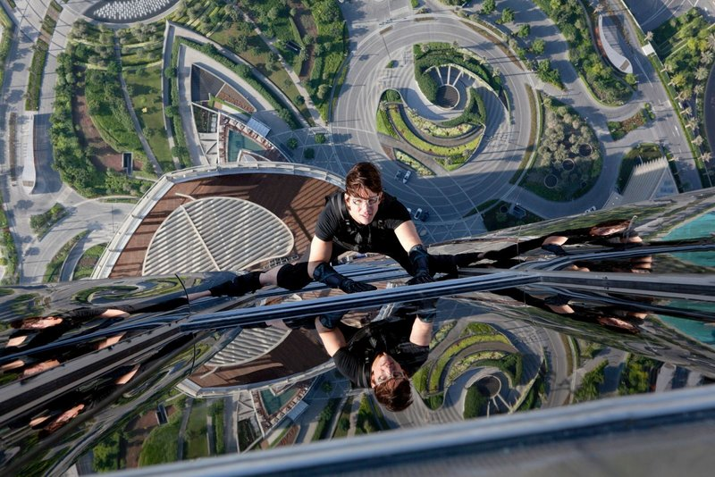 "Tom Cruise scales new heights in ""Mission Impossible – Ghost Protocol."""