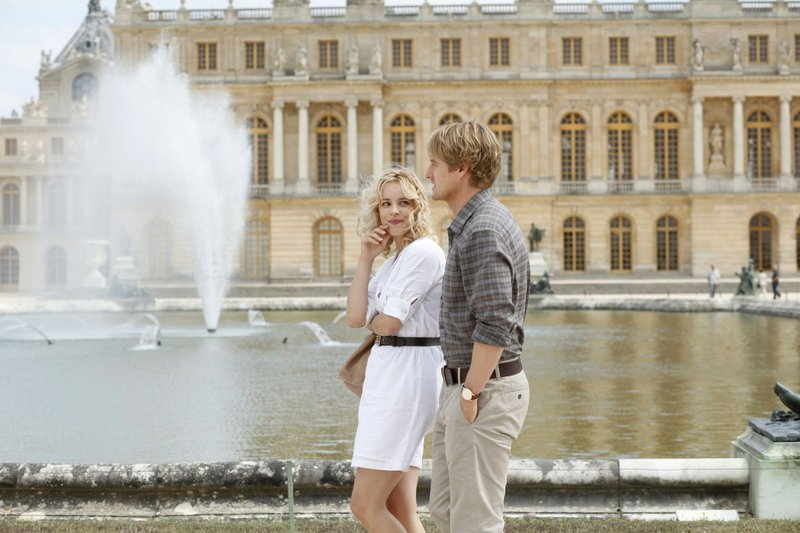 "Rachel McAdams and Owen Wilson in Woody Allen's ""Midnight in Paris."""