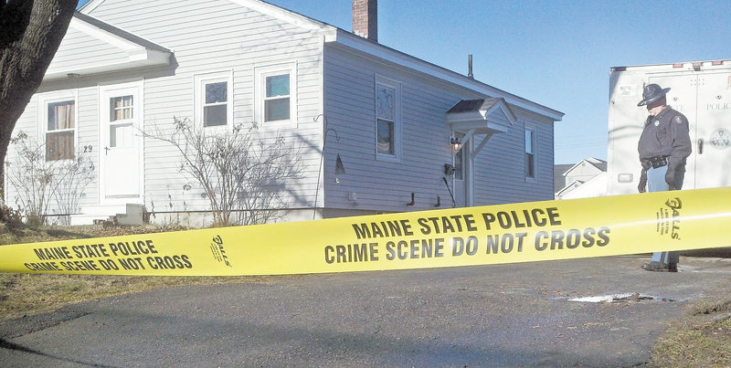 "Yellow crime-scene tape surrounds the Waterville house where 20-month-old Ayla Reynolds was reported missing six days ago. Waterville Police Chief Joseph Massey downplayed the significance of the tape, however, saying it was ""just an additional barrier"" to secure the site."