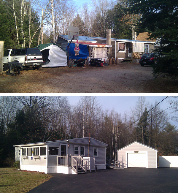 Police hunting for fugitive David Hobson conducted searches at these properties on New Dam Road in Sanford this morning.