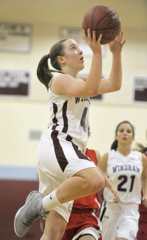 Meghan Gribbin of Windham passed on playing soccer this season to concentrate on basketball. And concentration on the court is a definite strength.