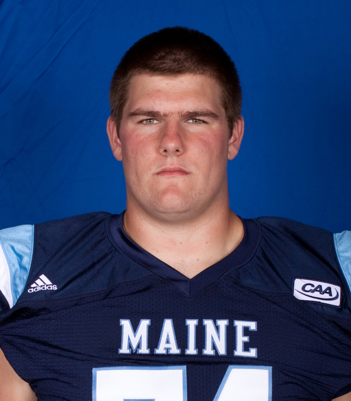 UMaine lineman Josh Spearin, formerly of Bonny Eagle.