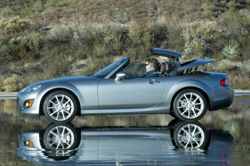 Mazda's MX-5 Miata looks great with its top up or down and appealing from any angle – including the driver's seat.