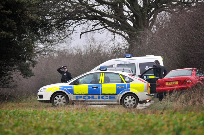 Police are at the scene today following the discovery of human remains on Queen Elizabeth's Sandringham estate.