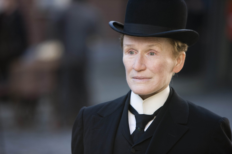 "Glenn Close, shown here in a scene from ""Albert Nobbs,"" is nominated for an Academy Award for best actress."