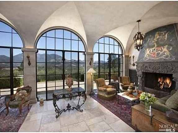 The living area of Joe Montana's home.