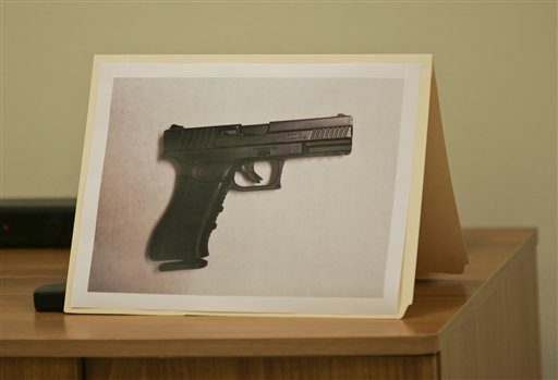 A photo of the carbon dioxide powered pellet handgun 15-year-old Jaime Gonzalez was holding at the time he was shot by police.