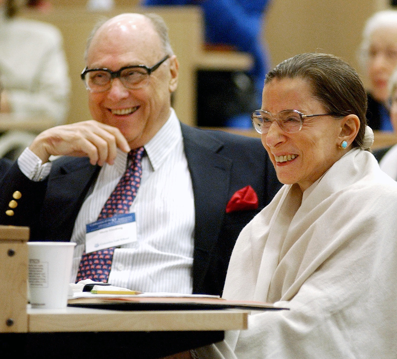 The late Martin Ginsburg, seen here with wife and Supreme Court Justice Ruth Bader Ginsburg, was designated chief cook in the Ginsburg family by the couple's children.