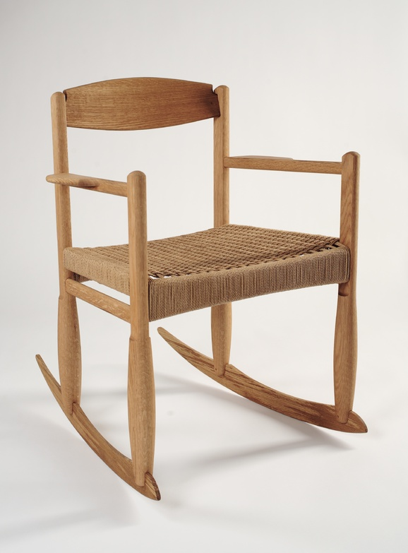 Peter Turner's Arrow rocker is made of oak or ash, with a Danish paper cord seat.