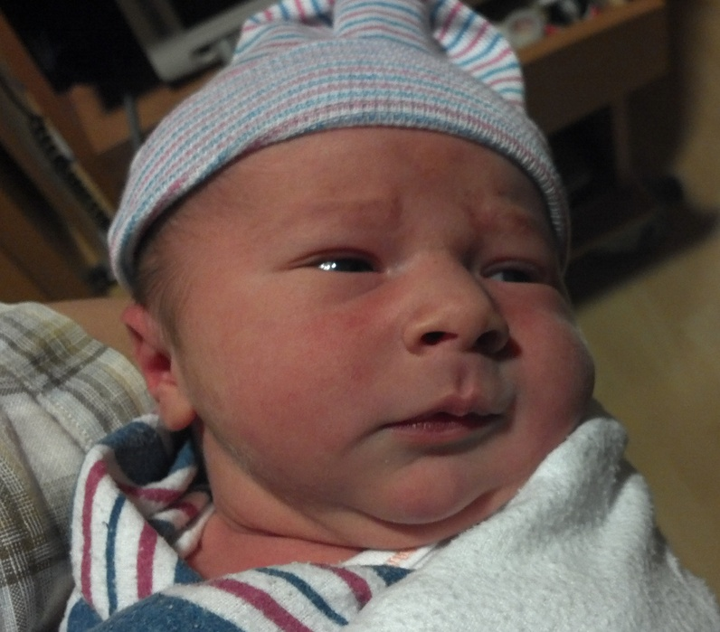 Theodore Bendix Martin, born at 11:50 a.m. Sunday to Erik and Valeska Martin of Durham, was the first baby of 2012 at Mercy Hospital.