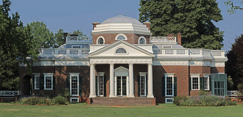 Monticello, the home of Thomas Jefferson. Several new projects launching this winter will shed light on the slaves who lived and worked there.