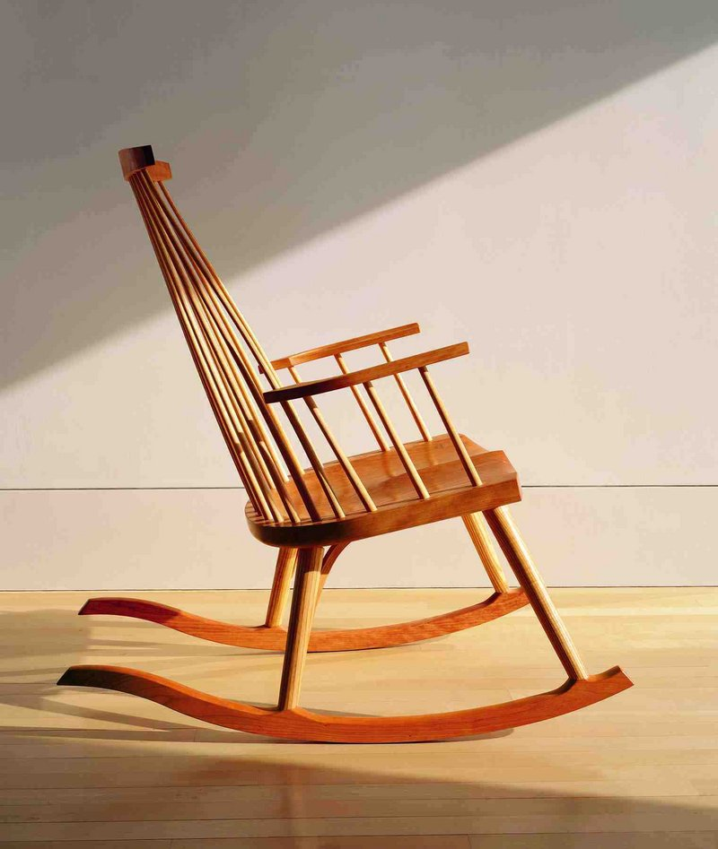 Moser's New Gloucester rocker is his nod to Shaker design.
