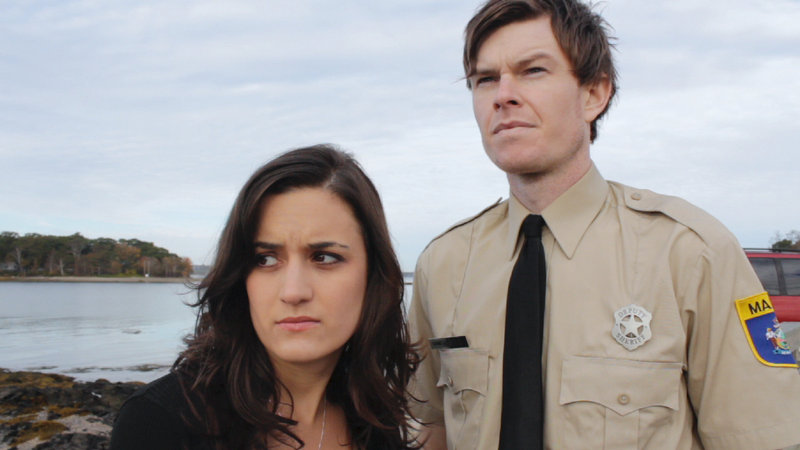 "Amie Marzen and Erik Moody in ""Ragged Isle."""