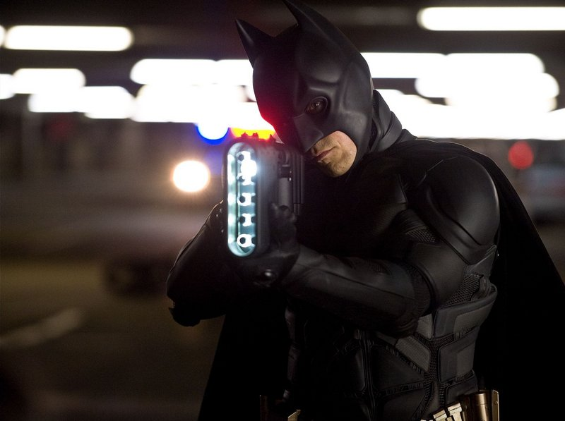 "Christian Bale reprises his role as Batman in ""The Dark Knight Rises."""