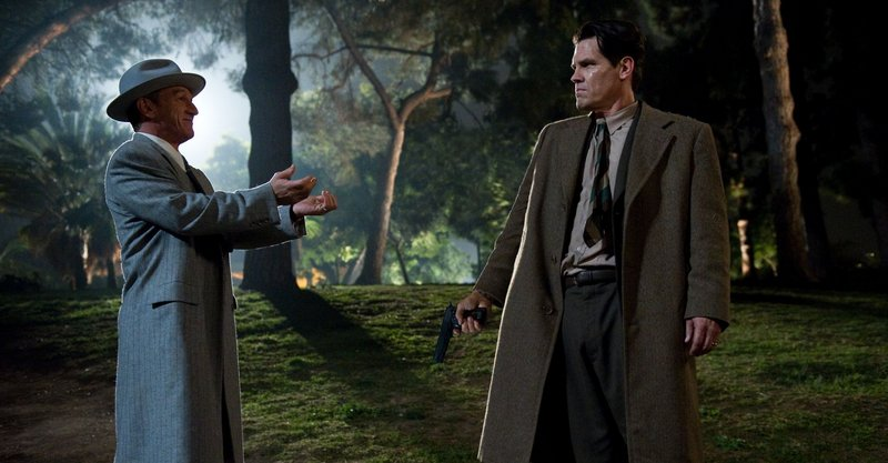 "Sean Penn and Josh Brolin in ""The Gangster Squad."""