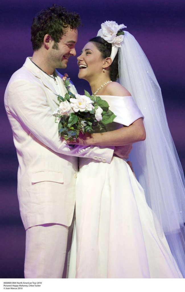 """Portland Ovations brings the North American tour of """"Mamma Mia!"""" to Merrill Auditorium in Portland for four performances Thursday through Saturday. Happy Mahaney and Chloe Tucker are pictured in the 2010 tour of """"Mamma Mia!"""""""