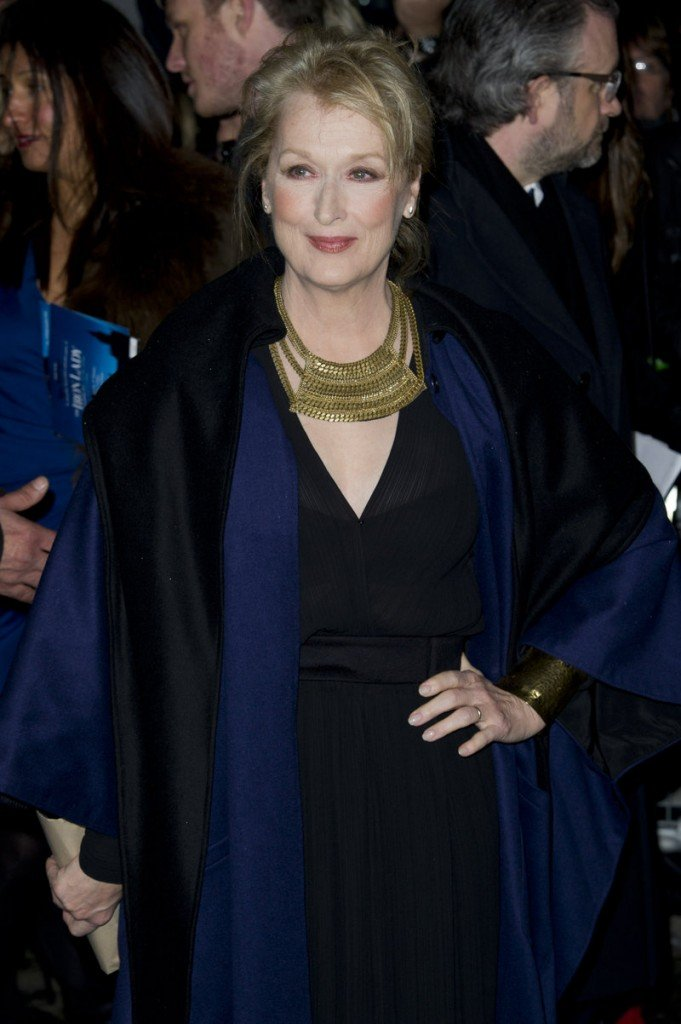 "Actress Meryl Streep arrives in central London for the European premiere of ""The Iron Lady,"" in which she portrays former Prime Minister Margaret Thatcher."