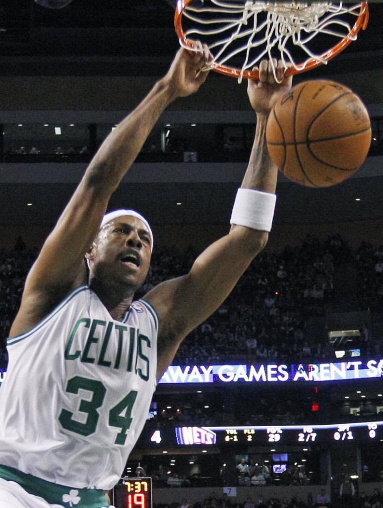 Paul Pierce is hitting his stride after missing the first three games and that's good news for the Celtics, who beat New Jersey 89-70 to increase their winning streak to four.