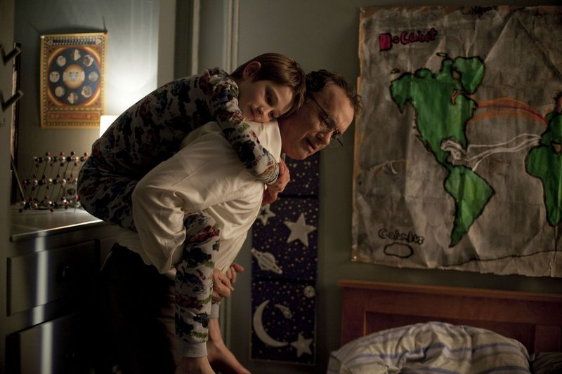 "Thomas Horn as Oskar and Tom Hanks as Oskar's father in ""Extremely Loud and Incredibly Close."""