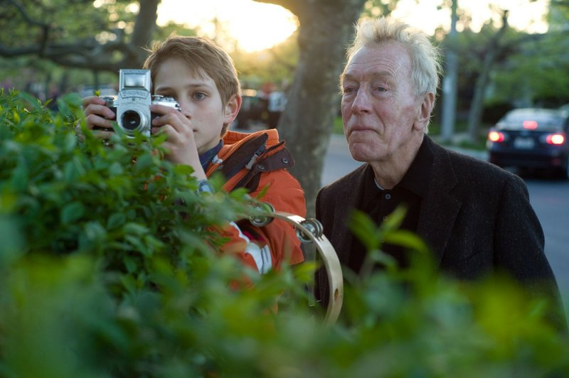 "Thomas Horn with Max Von Sydow, a grandfatherly composite character known as The Renter, created by ""Incredibly Loud"" screenwriter Eric Roth to accompany Oskar on his outings in the city."