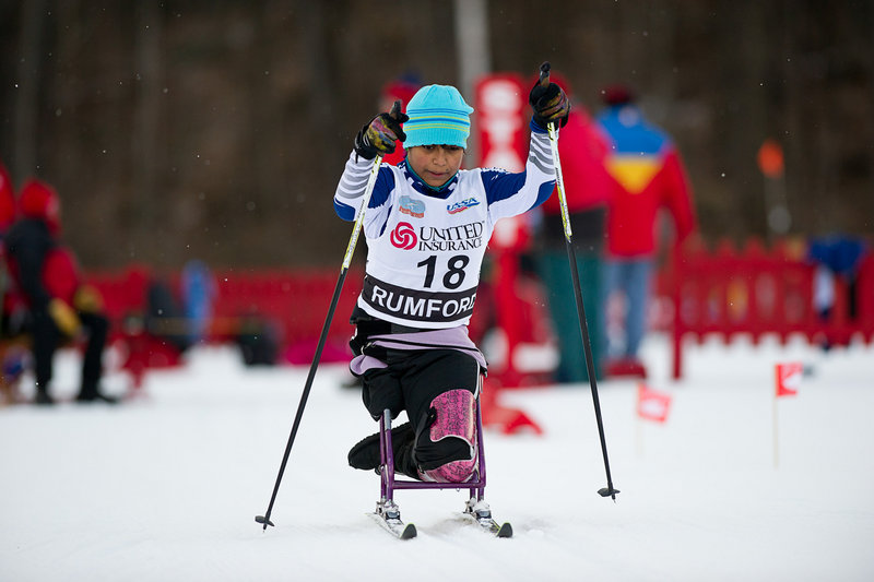 It's got to be a thrill when you beat the more experienced competitors you've been looking up to for a while. And that's just what Cape Elizabeth's Christina Kouros did when she took the title in the 5-kilometer women's adaptive sit-ski race Thursday at the U.S. cross country ski championships at Black Mountain in Rumford.