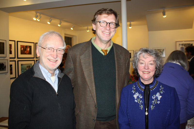 Guest curator Bruce Brown, Maine College of Art President Don Tuski and Addison Woolley Gallery owner Susan Porter.