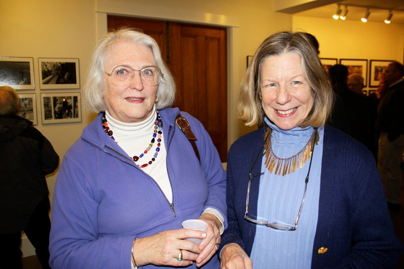 Gael May McKibben and University of New England Art Gallery director Anne Zill, co-curators of an upcoming show of contemporary Maine women art pioneers.