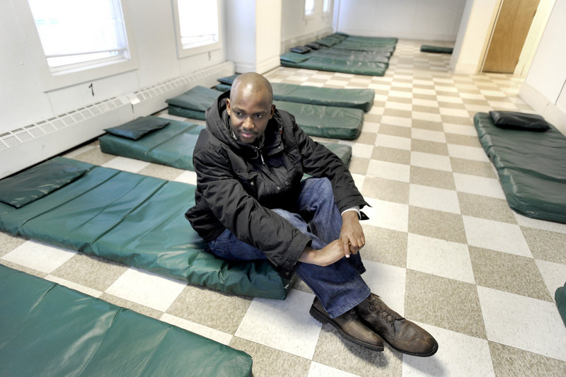 Dieudonne Nahigombeye slept on a mat at the Oxford Street Shelter when he arrived in the U.S. from Burundi in 2010. He has since moved to an apartment, but there are 45 other asylum seekers sleeping in Portland shelters this winter.