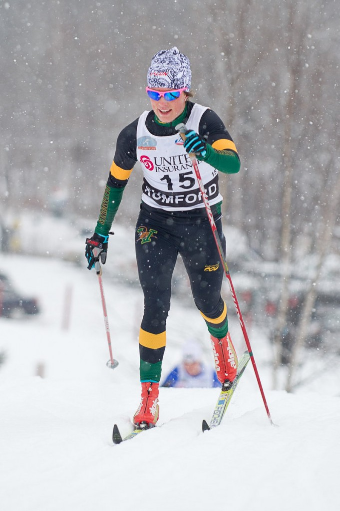 Lucy Garrec of Freeport placed 10th in the women's 20K classical race – her best-ever finish at the national championships.