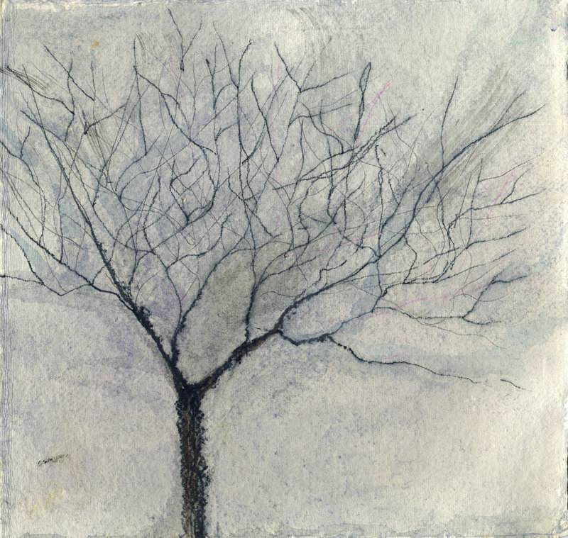 "Susan Tureen's ""Winter Tree,"" now on display at ""Drawn and Quartered: Hidden Treasures of the Studio."""