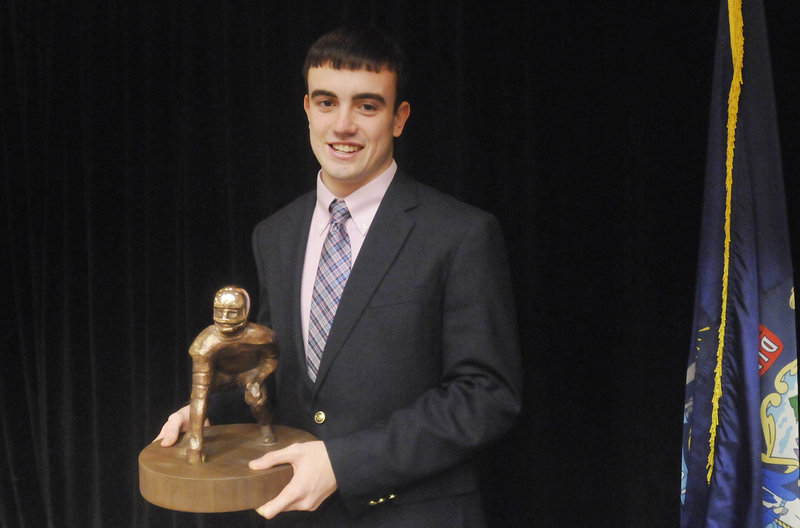 Jordan Hersom is the first player from Leavitt High to win the Fitzpatrick Trophy, and just the third from a Class B or C school.