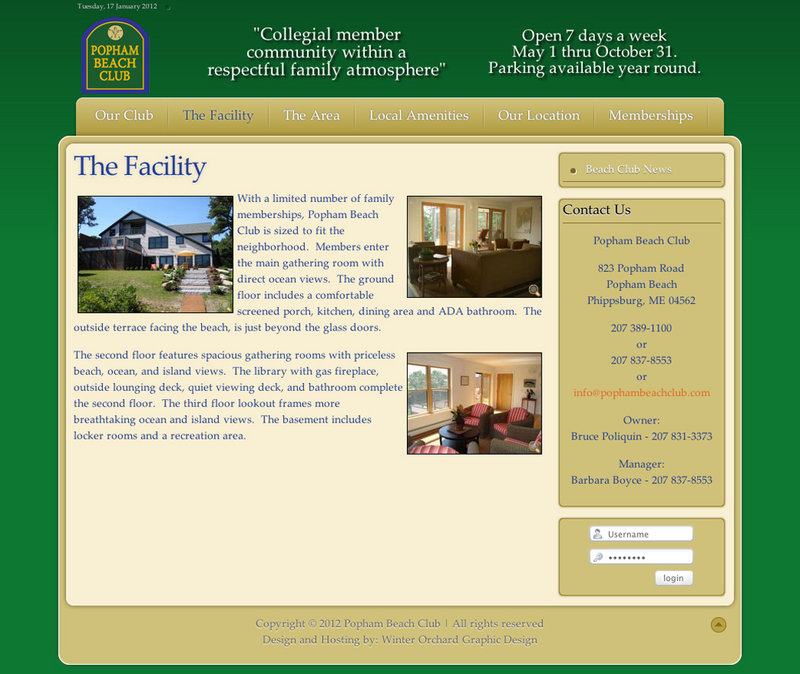 The website of the Popham Beach Club shows photos of the facility in Phippsburg. Owner Bruce Poliquin, the state treasurer, is planning to expand uses of the club.