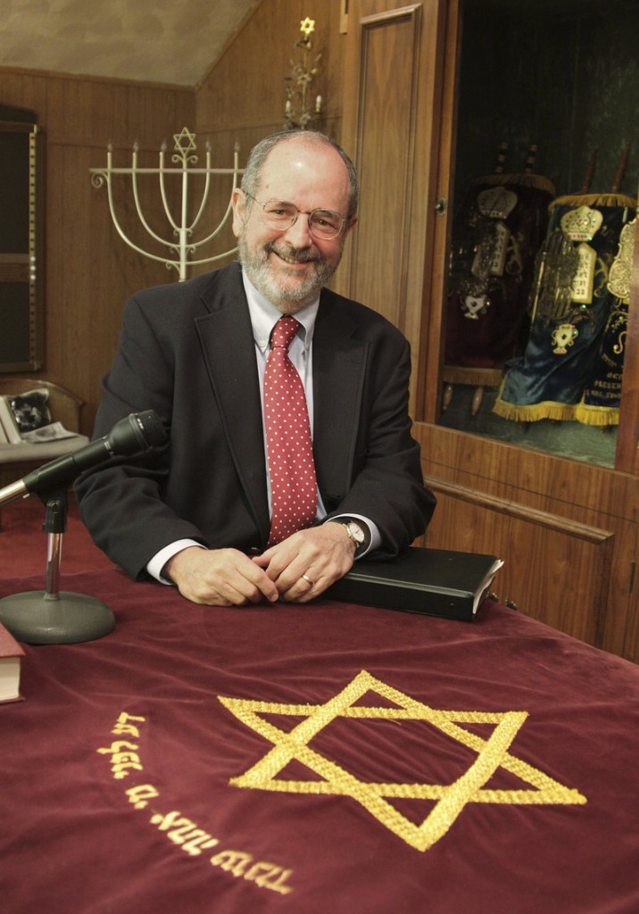 Rabbi Van Lanckton is shown at Temple B'nai Shalom in Braintree, Mass. He was installed as the temple's spiritual leader in August, after a 36-year career as a practicing lawyer.