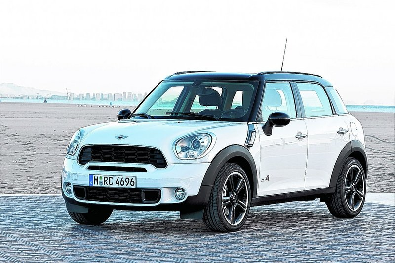 The Cooper Countryman S ALL4 is a four-door, four-wheel drive version of Mini's sporty little car. It offers easy access to second-row seating large enough for adults and all-wheel drive versatility.