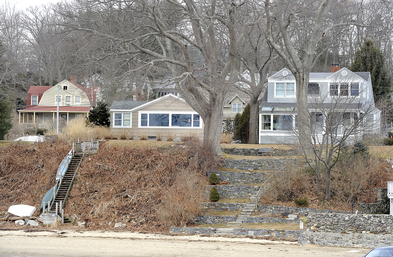 The Traynors' waterfront lot, which measures less than a third of an acre, has an assessed value of $743,000 – nine times higher than average lots elsewhere in town.